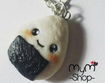 onigiri necklace or keychaing kawaii cute food japon mymshop28
