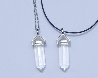 ON SALE Quartz Crystal Point Necklace, Quartz Crystal Necklace, Clear Quartz Crystal Necklace, Quartz Crystal Pendant, Clear Quartz Pendant,