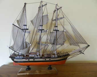 """Wood Ship With Sails """"Pailebot S V Marques"""""""