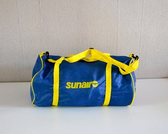 Vintage Travelling Bag airline company SUNAIR / sports bag