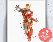 BIG SALE: Iron man print, avengers art Boys Artwork, Watercolor Artwork, avengers print, avengers poster, iron man poster, iron man art iron