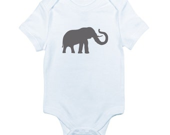 Elephant bodysuit is perfect for zoo and safari lovers and makes a great baby shower gift