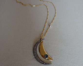 925 Silver on gold chain, great combination! Dream necklace!