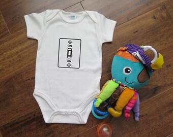 Switch Always ON - Funny Onesie - Cute onesie for baby shower gift  - Geeky Onesie - Science inspired  [008]