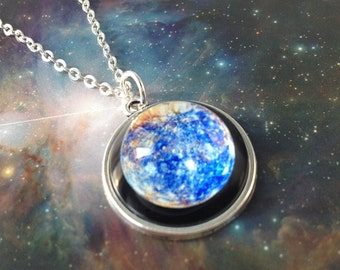 Mercury necklace,science jewelry,science necklace,solar system necklace,planet necklace,Planet Jewelry,geek gifts,inexpensive jewelry