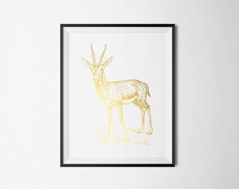 Deer Print A4 Foil Print