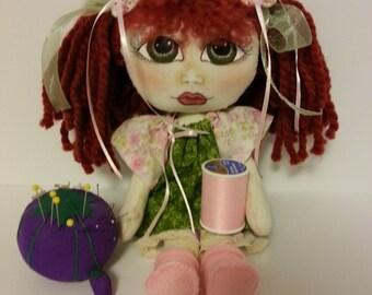 Art Doll, Cloth Doll, Handmade Doll, OOAK Doll