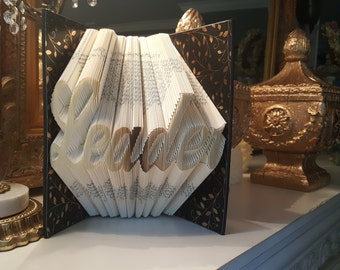 Leader Folded Book Art, Leader Gift, School Administrator, Business Leader Gift, CEO Gift, Boss Gift, Graduation Gift, Leadership Gift