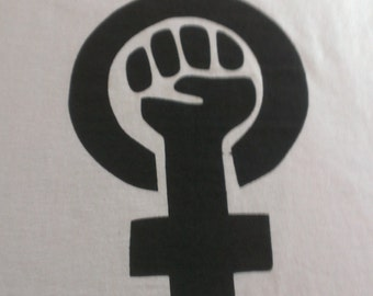 Feminist Symbol Screen Print Hoodie Sizes S-5XL