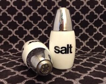 Vintage westinghouse milk glass salt and pepper shakers
