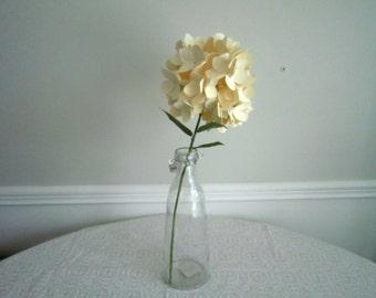 Handmade Paper Hydrangea in Glass Jar