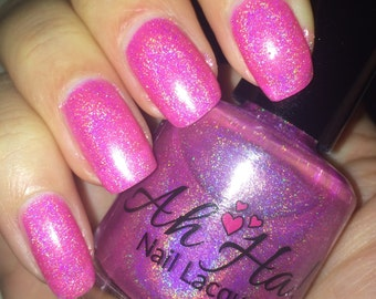 Pink Power Linear Holographic Polish