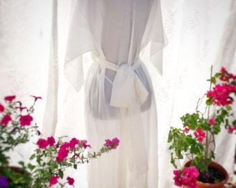 White silk dresss for layering, boho beach wedding dress