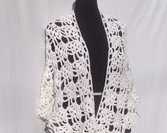 Angel Wings Shawl in White