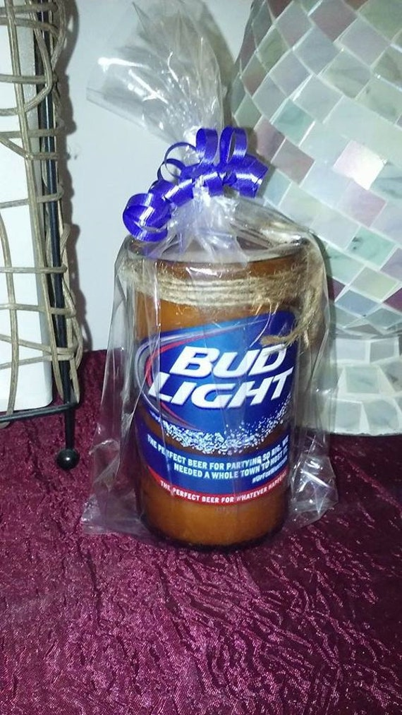 Wedding Gift Ideas For Beer Lovers : Light beer bottle candle beer lover gift upcycled gift for him gift ...