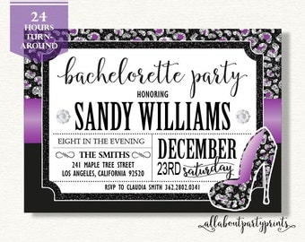 Bachelorette Party Invitation -PDF printable- 24 hours turnaround-B018