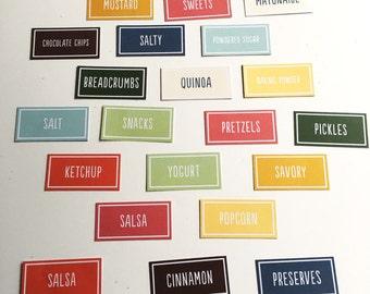 Set of 24 pantry labels / home organization / pantry organization / kitchen / label / home decor / organization label