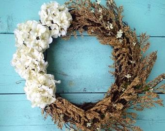 Summer Wreath, Rustic Summer Wreath, Wreath For Door, Rustic Wreath, Spring Door Wreath, Wedding Wreath, Summer Wreath For Door, Home Decor