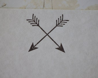 Arrow Stationery, Letter Writing Set, Arrow Paper, Writing Paper, Arrow Stamp, Stamped Stationery, Arrow Gift, Parchment Paper, Stamped Gift