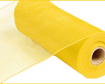 "10""x 10yds. Premium Quality Mesh - Solid No Foil ( Yellow )/Wreath Supplies/RE130229"