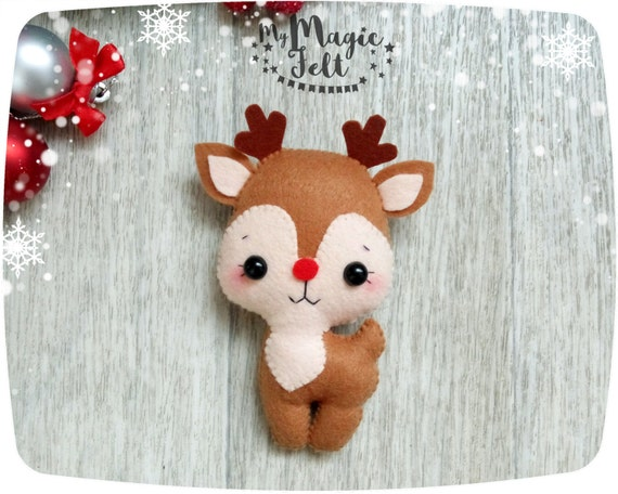 Christmas ornaments felt reindeer christmas tree ornament - How to make felt christmas decorations ...