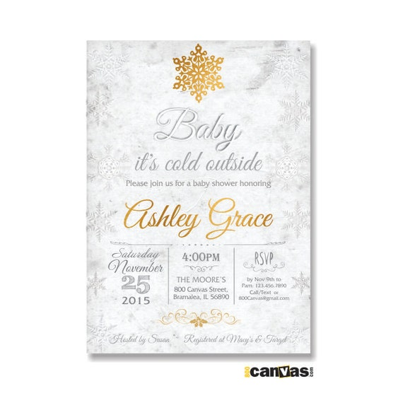 baby its cold outside winter baby shower snowflake baby shower