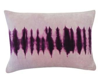 Velvet Purple Blinds Cotton Pillow