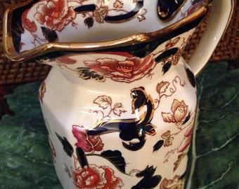 Antique Mandalay pattern pitcher