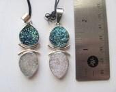 Double drusy pendant