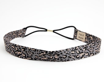 Free Shipping Modified Animal Print Leopard Pattern Bonded Fabric Elastic Headband
