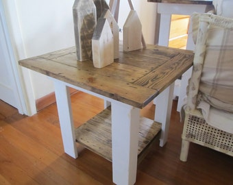 Handmade French Country Side Table