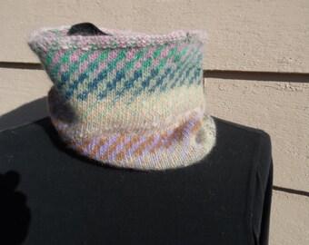 SALE - Cashmere Cowl or Neck Gaiter - Handknit