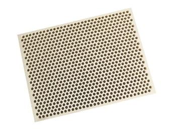 Honeycomb Ceramic Block Soldering Square 100 x 75 x 20 mm w/ 850 Holes (2 mm Dia.) - SOLD-0065