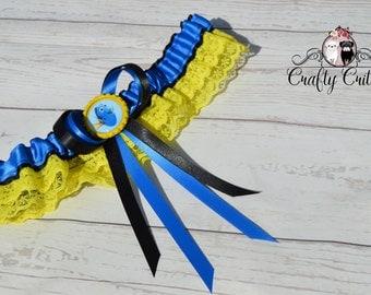 Dory Wedding Garter - Custom Garter - Traditional Garter - Bridal Garter - Satin Garter - Lace Garter - Novelty Garter