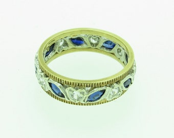 A Blue And White Stone Eternity Ring (SKU71)