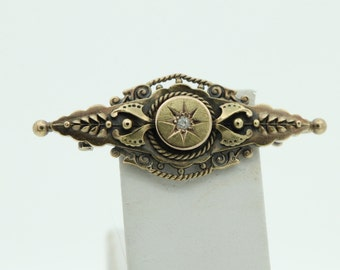 15ct Diamond brooch - hallmarked 1902 (SKU496)