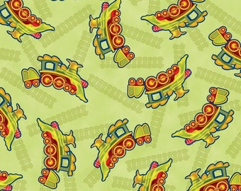 Dinosaur train etsy for Train themed fabric
