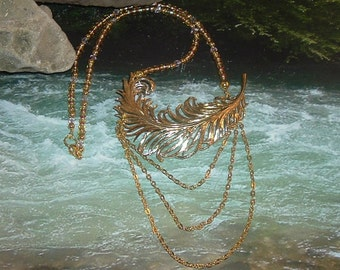 Feather Pin Necklace