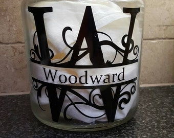 Personalized Cookie Jars/Personalized Glass Jar Personalized Glass Storage Container Personalized Glass Canister
