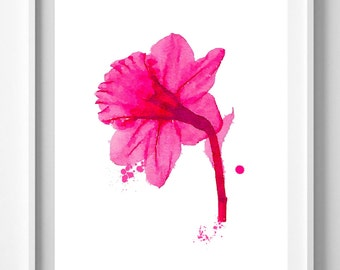 Red #Red flower print,painting,watercolor,#home decor,#wall art,Pic No 108