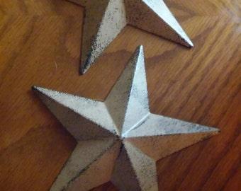 Rustic metal stars set of 2