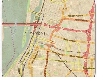 Memphis Vintage Map Coasters