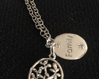 Sale!!! Sterling Family Tree Necklace & Pendant