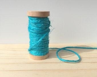 Teal Blue Twine - - 10 meters