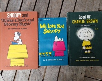 3 Charlie Brown and Snoopy Books from 1960's