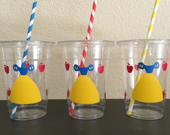 Snow White party cups, Snow White Birthday party