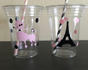 Paris party cups