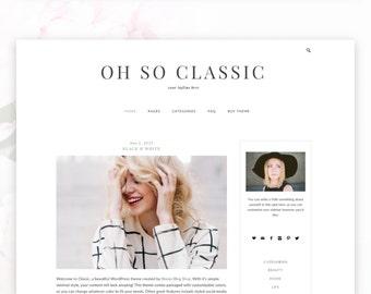 Classic  —RESPONSIVE Wordpress Blog Theme — Self-hosted Wordpress Blog Theme — Feminine Website