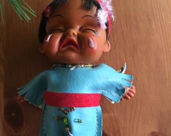 Rare Doll Native Crying Collectable Native American