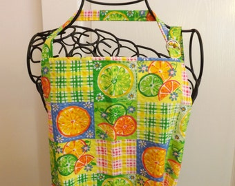 Adult Apron, Citrus Patchwork